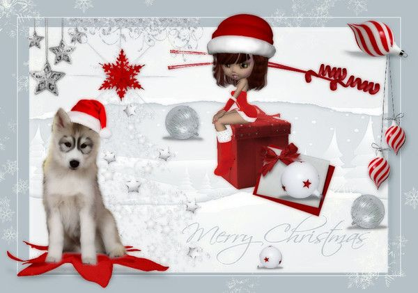 NOUVELLE CREATION  JOYEUX NOEL POUR BLOG 
